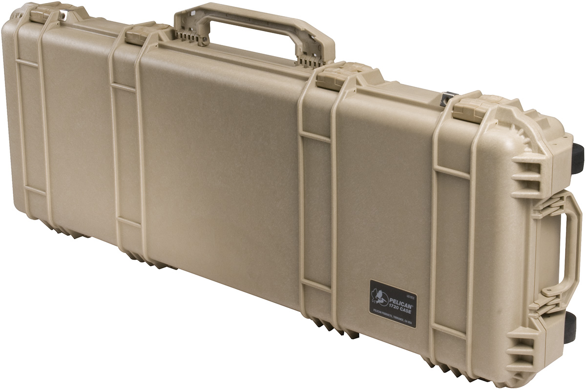 pelican peli products 1700 desert tan usa made military rifle case