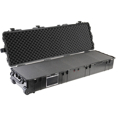 pelican peli products 1770 hard rolling gun rifle military case
