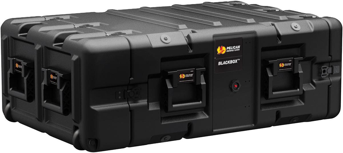 pelican peli products blackbox 4u hard server transport rack mount black box case