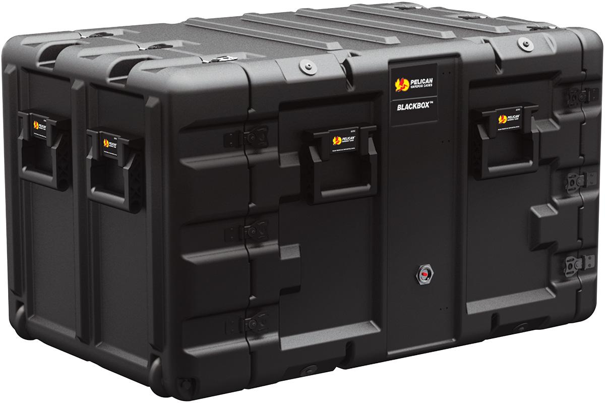 pelican peli products blackbox 9u black box strong light server rack mount case
