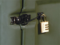 Pelican cases lock cable latch
