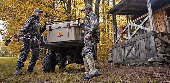 pelican products rugged outdoor hunting cooler ice chests