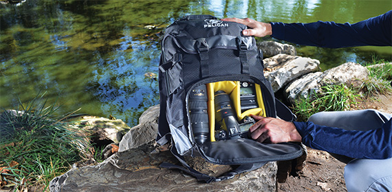 pelican products protective camera backpack and lens cases