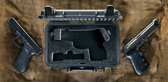 pelican products pistol case and glock gun hard cases